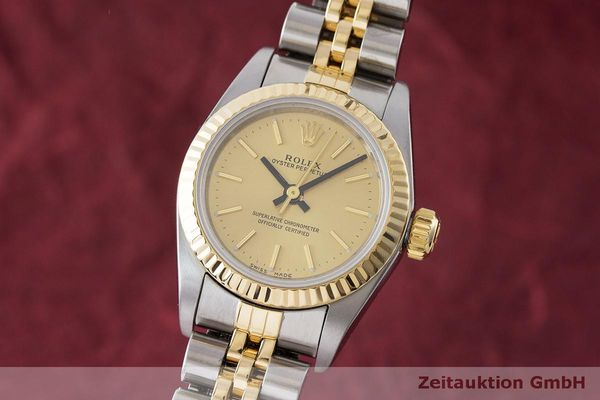 ROLEX OYSTER PERPETUAL STEEL / GOLD AUTOMATIC KAL. 2130 LP: 7400EUR [170094]