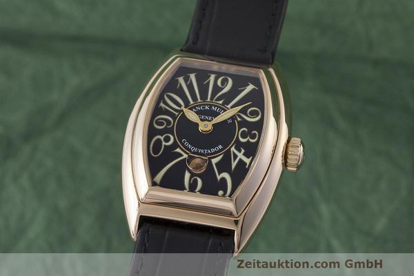 FRANCK MULLER CONQUISTADOR 18 CT RED GOLD AUTOMATIC LP: 14800EUR [170142]