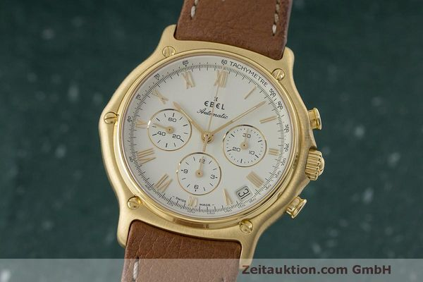 EBEL 1911 CHRONOGRAPH 18 CT GOLD AUTOMATIC KAL. 134 400 [170146]