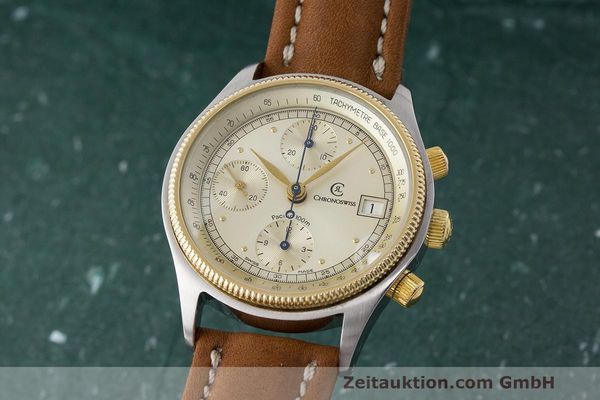 CHRONOSWISS CHRONOGRAPH PACIFIC HERRENUHR AUTOMATIK STAHL / GOLD VP: 4700,- Euro [170249]