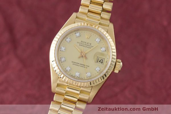 ROLEX LADY DATEJUST 18 CT GOLD AUTOMATIC KAL. 2135 LP: 22650EUR [170252]