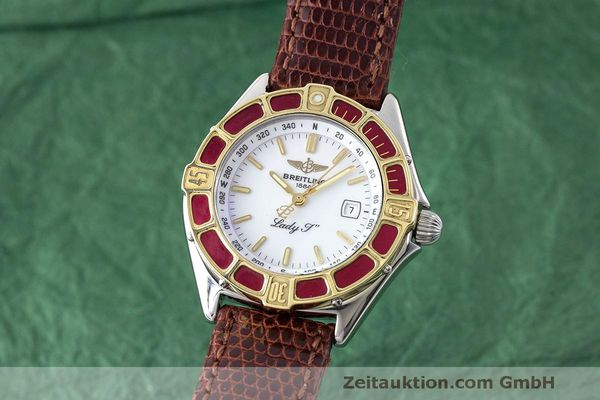 BREITLING LADY J CLASS STAHL / GOLD DAMENUHR TOP D52065 VP: 2290,- EURO [170300]