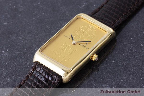 二手奢侈品腕表 Corum Goldbarren 18K金 石英机芯 Kal. 608 Ref. 42B400 56  | 170317 01