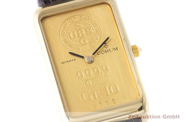 二手奢侈品腕表 Corum Goldbarren 18K金 石英机芯 Kal. 608 Ref. 42B400 56  | 170317 02