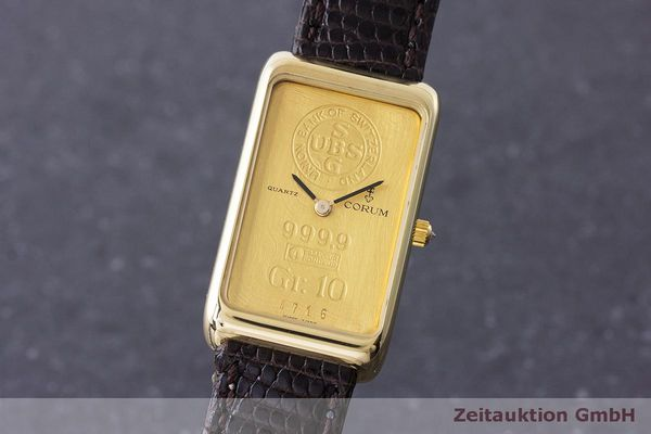 CORUM GOLDBARREN ORO DE 18 QUILATES CUARZO KAL. 608 [170317]