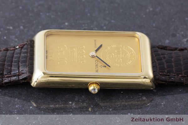 二手奢侈品腕表 Corum Goldbarren 18K金 石英机芯 Kal. 608 Ref. 42B400 56  | 170317 05
