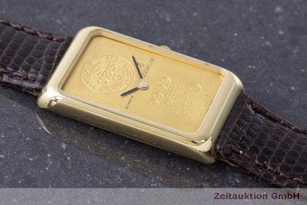 二手奢侈品腕表 Corum Goldbarren 18K金 石英机芯 Kal. 608 Ref. 42B400 56  | 170317 12