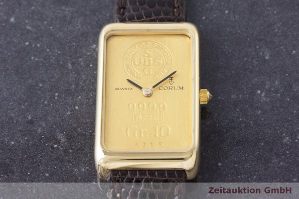 二手奢侈品腕表 Corum Goldbarren 18K金 石英机芯 Kal. 608 Ref. 42B400 56  | 170317 13