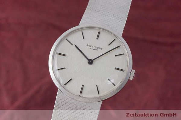 PATEK PHILIPPE CALATRAVA 18 CT WHITE GOLD MANUAL WINDING KAL. PM23-300 LP: 36729EUR [170321]