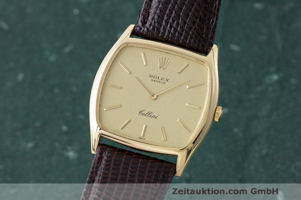 ROLEX 18K (0,750) CELLINI HANDAUFZUG HERRENUHR MEDIUM REF. 3805 VP: 5000,- Euro [170329]
