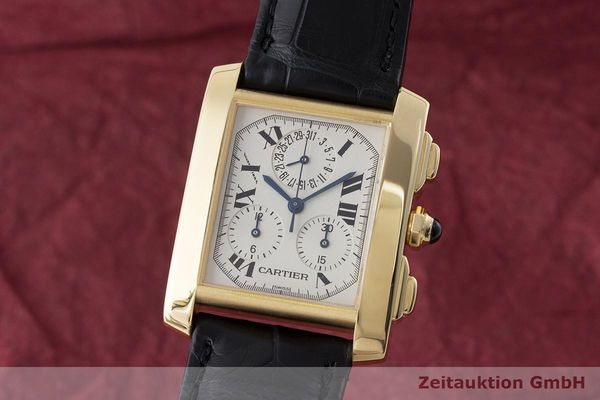 CARTIER TANK FRANCAISE CHRONOGRAPHE OR 18 CT QUARTZ KAL. 212P [170367]