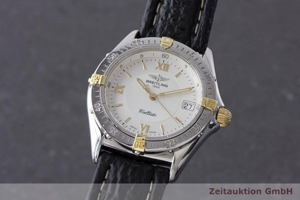 BREITLING CALLISTO STAHL / GOLD HERRENUHR MEDIUM B57046 VP: 3670,- EURO [170547]