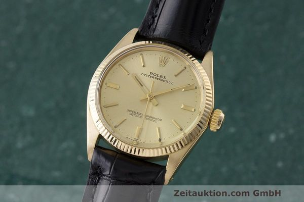 ROLEX 18K (0,750) GOLD OYSTER NO DATE AUTOMATIK MEDIUM MID SIZE VP: 19050,- EURO [170638]