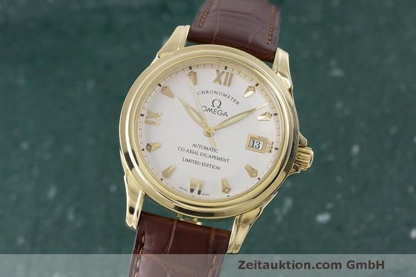 OMEGA 18K DE VILLE GMT CO-AXIAL CHRONOMETER 59113122 LIMITIERT VP: 16100,- Euro [170648]