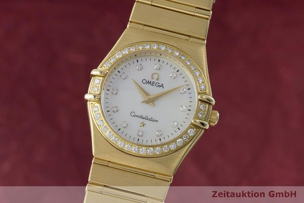 OMEGA LADY 18K GOLD CONSTELLATION DIAMANTEN DAMENUHR 8951.201 VP: 22100,- Euro [170659]