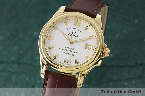 OMEGA 18K DE VILLE GMT CO-AXIAL CHRONOMETER 59113122 LIMITIERT VP: 16100,- Euro [170687]