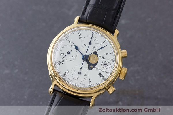 CHRONOSWISS A. ROCHAT CHRONOGRAPH GOLD-PLATED AUTOMATIC KAL. VALJ. 7750  [170692]