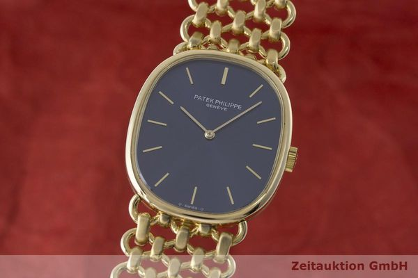 PATEK PHILIPPE 18K GOLD ELLIPSE D´OR HANDAUFZUG 3548 MEDIUM VP: 36729,- EURO [170726]