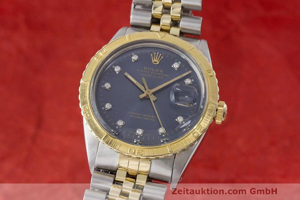 ROLEX DATEJUST TURN-O-GRAPH AUTOMATIK DIAMANTEN HERRENUHR 16253 VP: 11950,- Euro [170831]