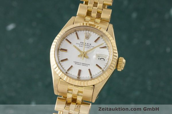 ROLEX LADY 18K (0,750) GOLD DATEJUST AUTOMATIK DAMENUHR 6917 VP: 20600,- EURO [170837]