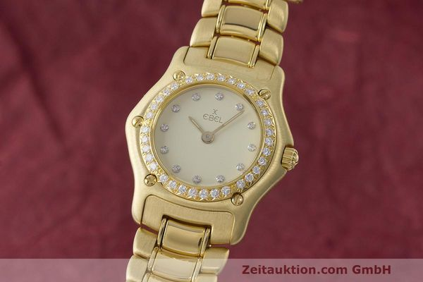 EBEL LADY 18K (0,750) GOLD 1911 DAMENUHR DIAMANTEN 890910 VP: 14500,- EURO [170846]
