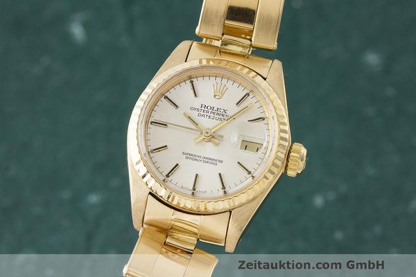 ROLEX LADY 18K (0,750) GOLD DATEJUST AUTOMATIK DAMENUHR 6917 VP: 20600,- Euro [170849]