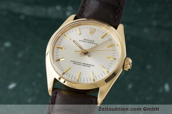 ROLEX OYSTER PERPETUAL 18 CT GOLD AUTOMATIC KAL. 1570 LP: 19050EUR [170874]