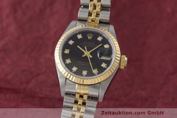 ROLEX LADY OYSTER DATEJUST GOLD /STAHL DAMENUHR DIAMANTEN REF 69173 VP: 9200,- Euro [170910]