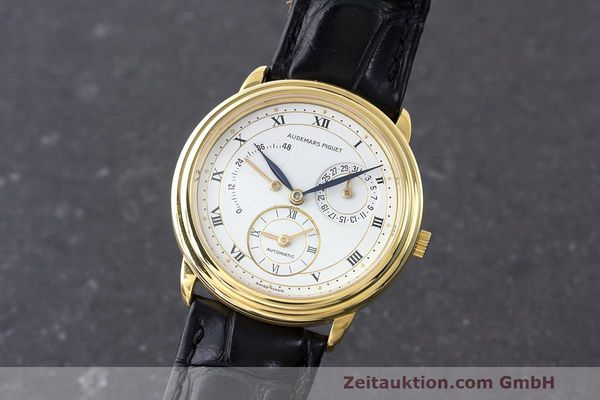 AUDEMARS PIGUET 18K GOLD DUAL TIME GANGRESERVE HERRENUHR C-99322 VP: 33800,- Euro [170932]