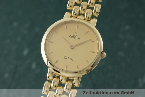 OMEGA DE VILLE OR 18 CT QUARTZ KAL. ETA 210.001 LP: 13700EUR [170948]