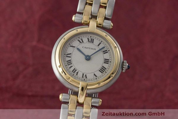 CARTIER LADY PANTHERE RONDE GOLD / STAHL DAMENUHR DESIGN KLASSIKER VP: 5600,- Euro [170999]
