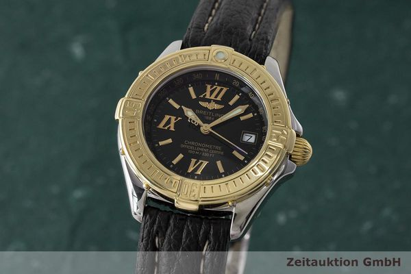 BREITLING LADY B-CLASS CHRONOMETER DAMENUHR STAHL / GOLD D71365 VP: 3830,- EURO [171076]