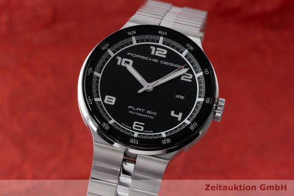 PORSCHE DESIGN FLAT SIX ACIER AUTOMATIQUE KAL. SELLITA SW200-1 LP: 2250EUR  [171102]