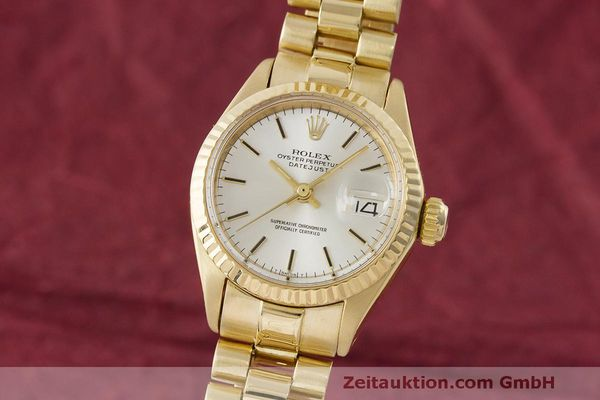 ROLEX LADY 18K (0,750) GOLD DATEJUST AUTOMATIK DAMENUHR 6917 VP: 20600,- Euro [171339]