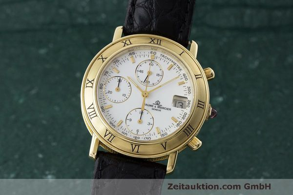 BAUME & MERCIER 18K GOLD BAUMATIC CHRONOGRAPH HERRENUHR 86104 VP: 15900,-EURO [171365]