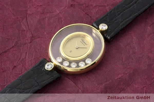 gebrauchte Luxusuhr Chopard Happy Diamonds 18k Gold Quarz Kal. Eta 201001 Ref. 64305  | 173575 01