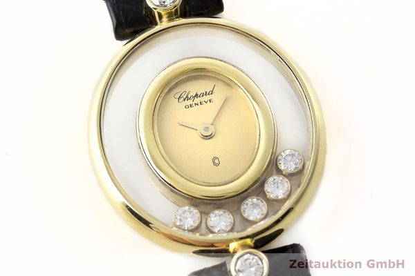 gebrauchte Luxusuhr Chopard Happy Diamonds 18k Gold Quarz Kal. Eta 201001 Ref. 64305  | 173575 02