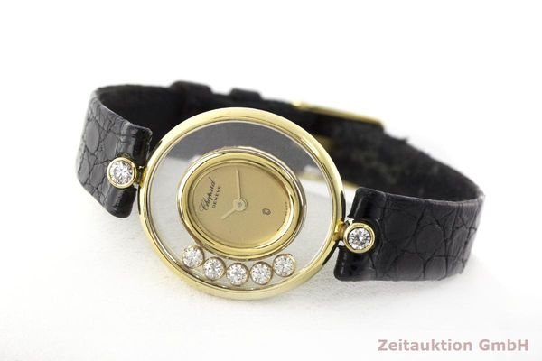 gebrauchte Luxusuhr Chopard Happy Diamonds 18k Gold Quarz Kal. Eta 201001 Ref. 64305  | 173575 03