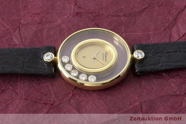 gebrauchte Luxusuhr Chopard Happy Diamonds 18k Gold Quarz Kal. Eta 201001 Ref. 64305  | 173575 05