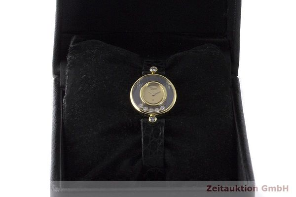 gebrauchte Luxusuhr Chopard Happy Diamonds 18k Gold Quarz Kal. Eta 201001 Ref. 64305  | 173575 07