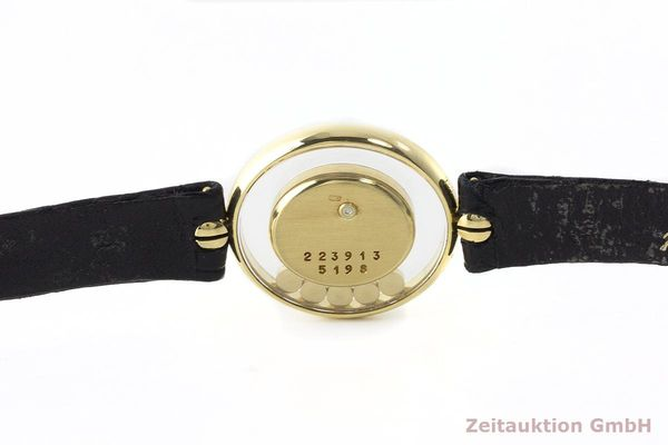 gebrauchte Luxusuhr Chopard Happy Diamonds 18k Gold Quarz Kal. Eta 201001 Ref. 64305  | 173575 08