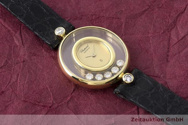 gebrauchte Luxusuhr Chopard Happy Diamonds 18k Gold Quarz Kal. Eta 201001 Ref. 64305  | 173575 11