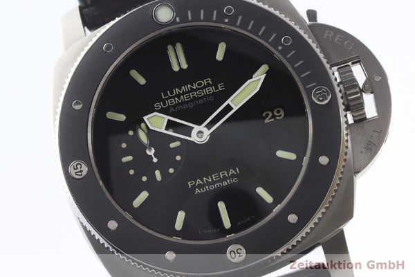 gebrauchte Luxusuhr Panerai Luminor Submersible Titan Automatik Kal. P9000 Ref. PAM00389 LIMITED EDITION | 180164 02