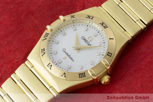 gebrauchte Luxusuhr Omega Constellation 18k Gold Quarz Kal. 1456 Ref. 11727500  | 181190 01