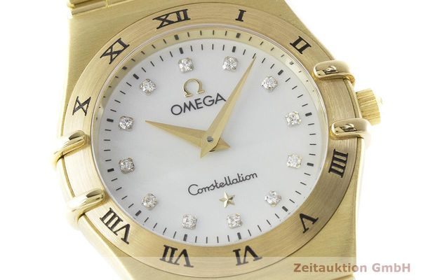 gebrauchte Luxusuhr Omega Constellation 18k Gold Quarz Kal. 1456 Ref. 11727500  | 181190 02