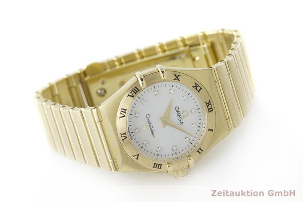 gebrauchte Luxusuhr Omega Constellation 18k Gold Quarz Kal. 1456 Ref. 11727500  | 181190 03