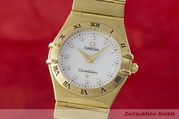 gebrauchte Luxusuhr Omega Constellation 18k Gold Quarz Kal. 1456 Ref. 11727500  | 181190 04