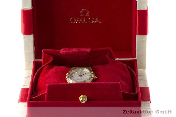 gebrauchte Luxusuhr Omega Constellation 18k Gold Quarz Kal. 1456 Ref. 11727500  | 181190 07