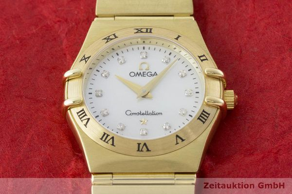 gebrauchte Luxusuhr Omega Constellation 18k Gold Quarz Kal. 1456 Ref. 11727500  | 181190 18