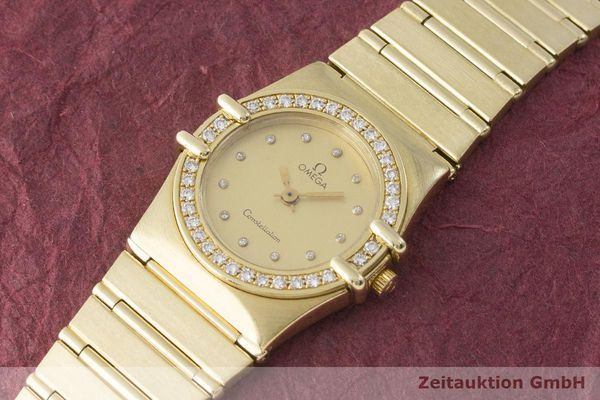 gebrauchte Luxusuhr Omega Constellation 18k Gold Quarz Kal. 1450 Ref. 6950001  | 183098 01